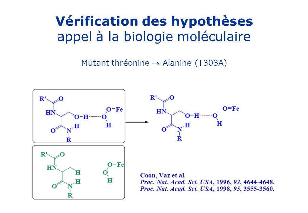 Vérification des hypothèses appel à la biologie moléculaire