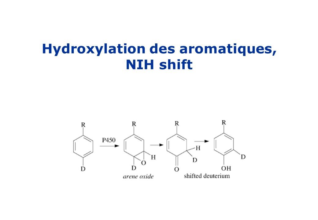 Hydroxylation des aromatiques, NIH shift