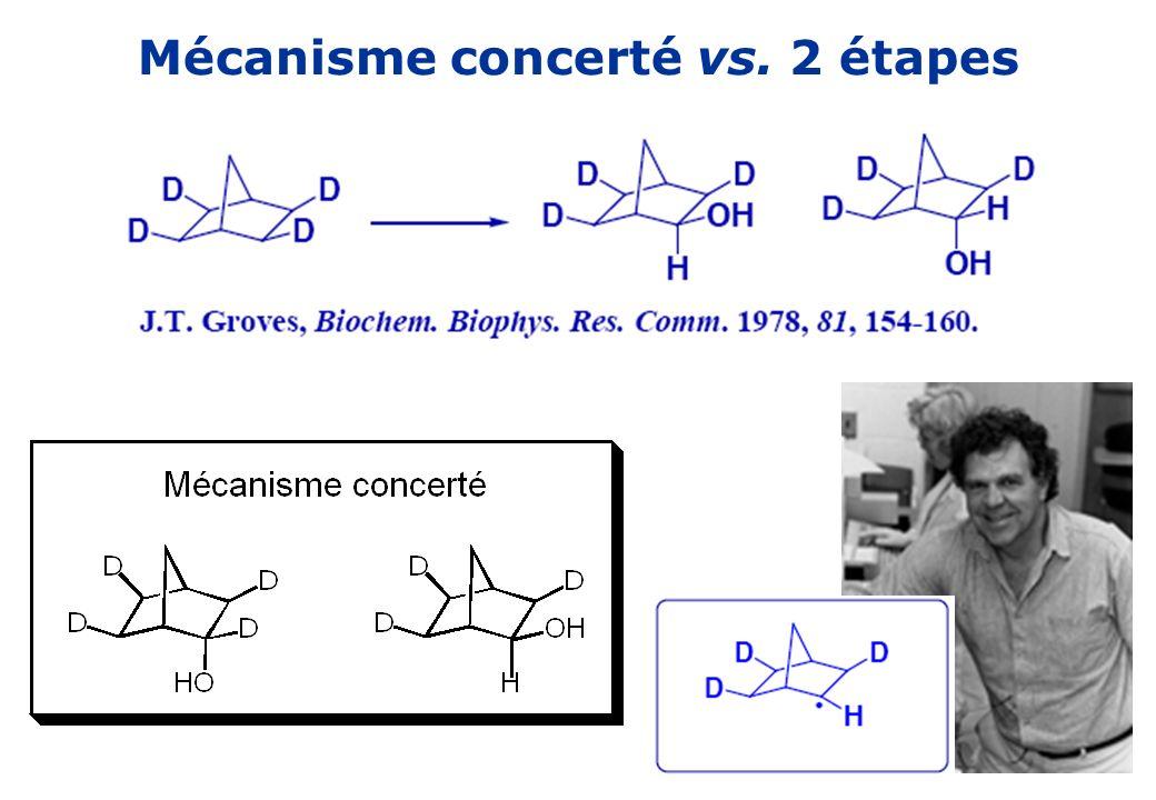 Mécanisme concerté vs. 2 étapes