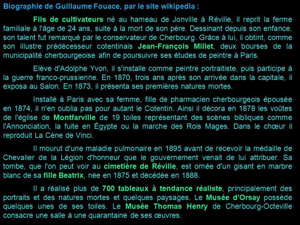Biographie de Guillaume Fouace, par le site wikipedia :