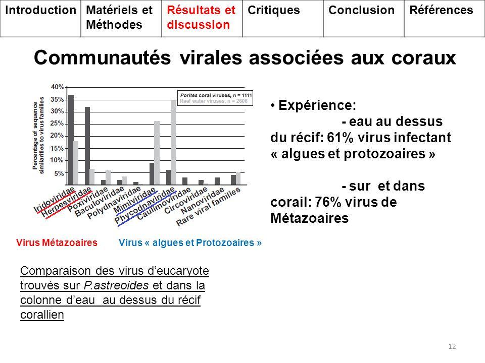 Communautés virales associées aux coraux