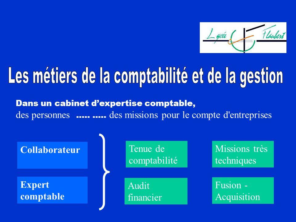 Les métiers de la comptabilité et de la gestion