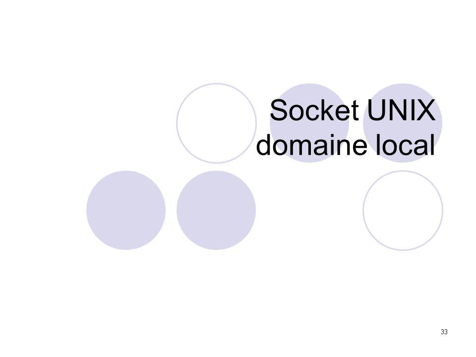 Socket UNIX domaine local