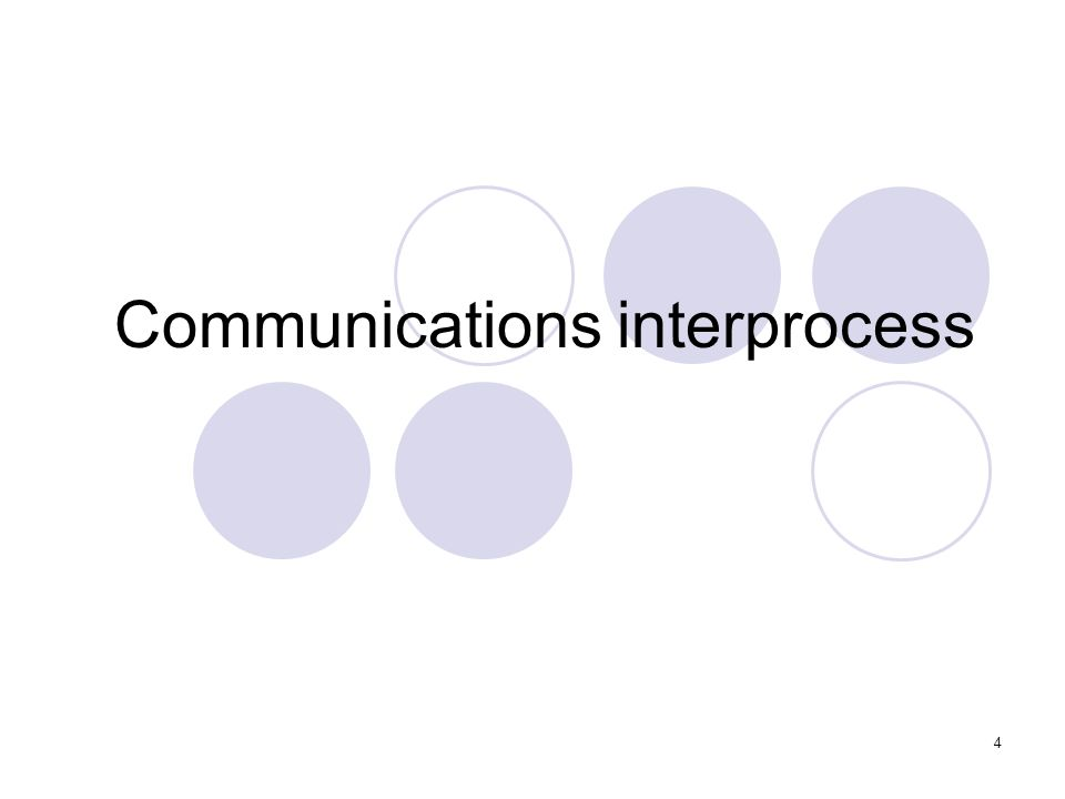 Communications interprocess