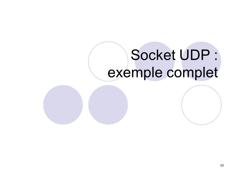 Socket UDP : exemple complet