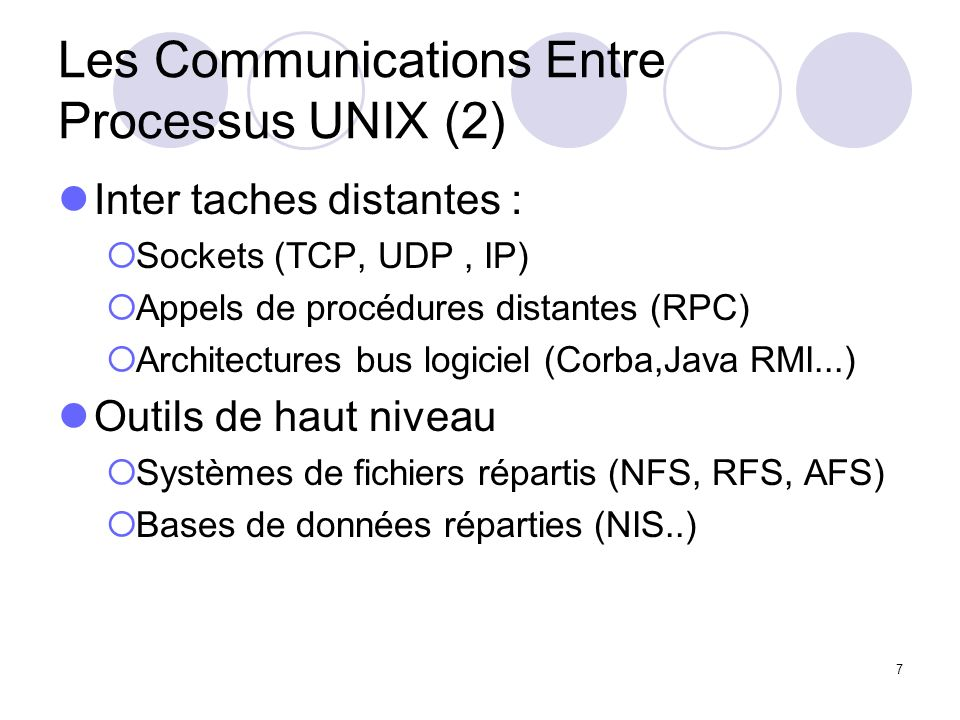 Les Communications Entre Processus UNIX (2)