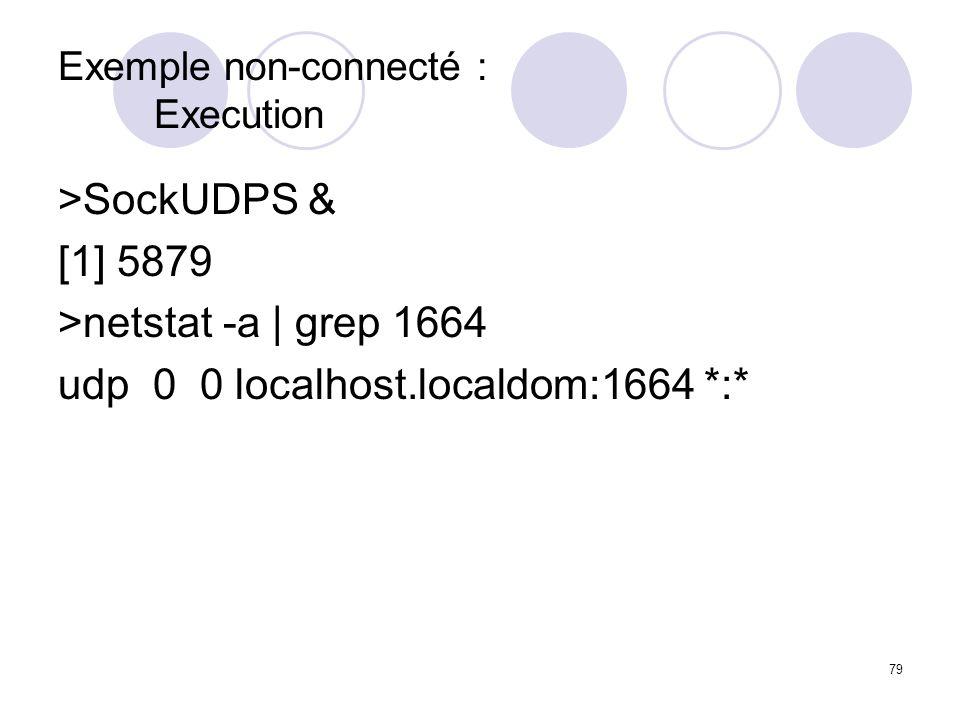 Exemple non-connecté : Execution