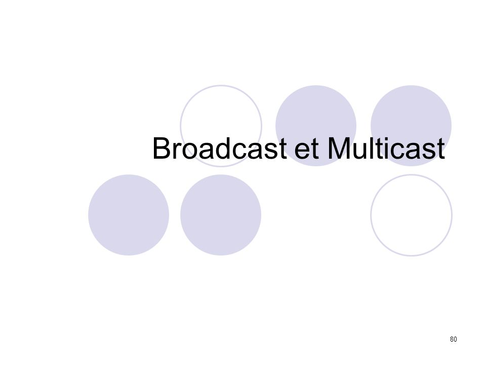 Broadcast et Multicast