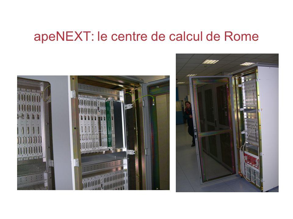 apeNEXT: le centre de calcul de Rome