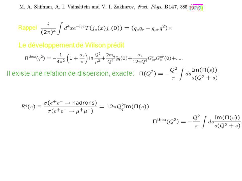 (q2) Le développement de Wilson prédit