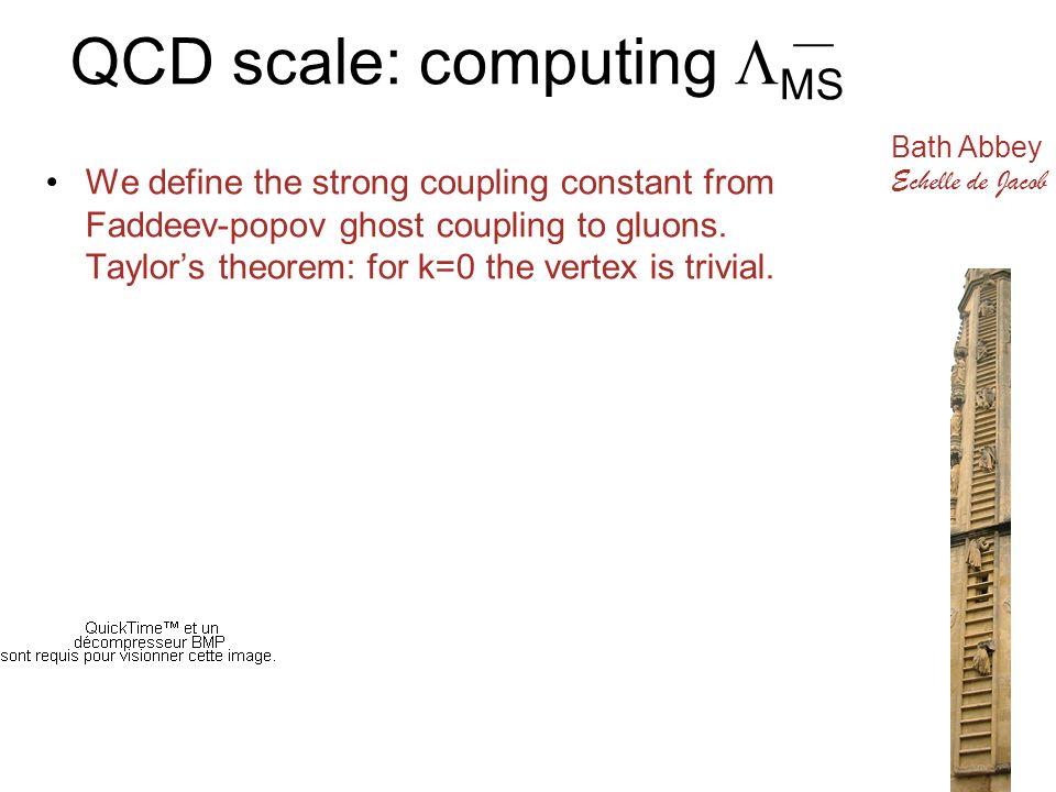 QCD scale: computing MS