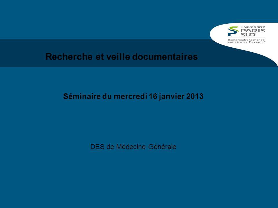 Recherche et veille documentaires