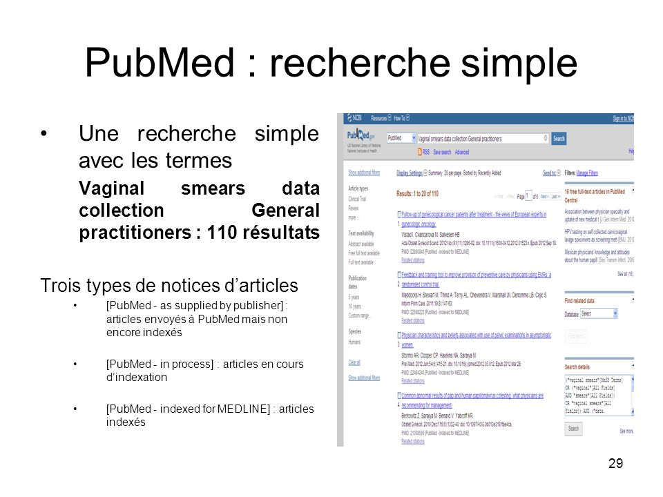 PubMed : recherche simple