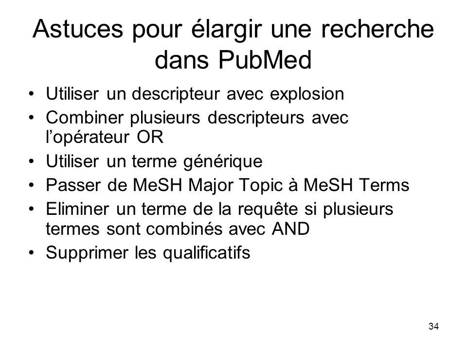 Astuces pour élargir une recherche dans PubMed