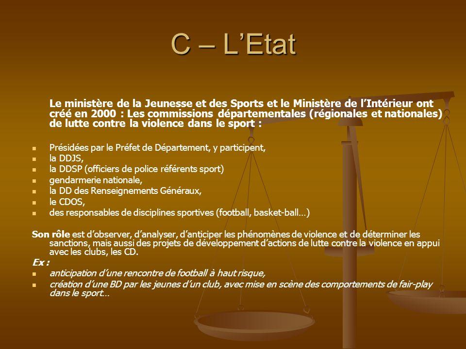 C – L'Etat