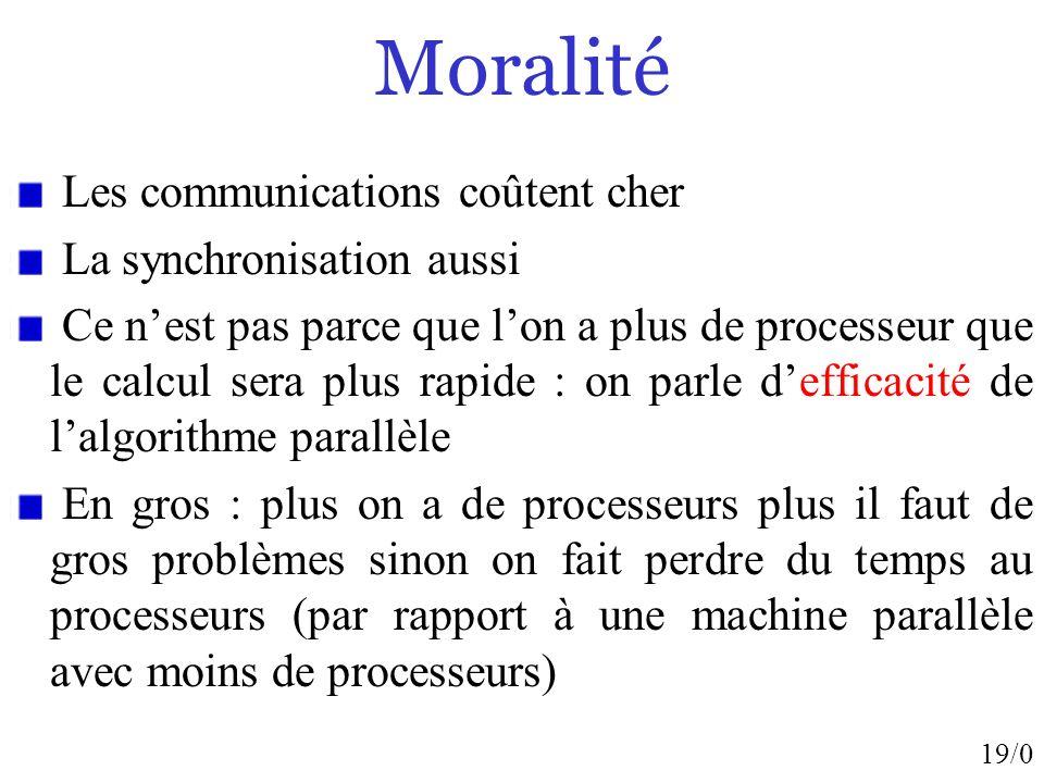 Moralité Les communications coûtent cher La synchronisation aussi