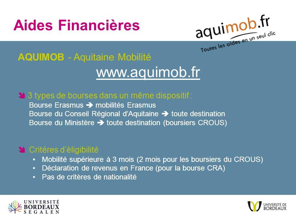 Aides Financières www.aquimob.fr AQUIMOB - Aquitaine Mobilité