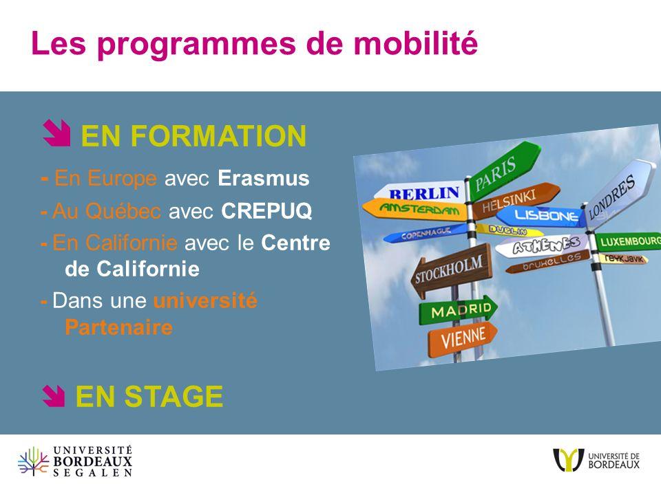 Les programmes de mobilité