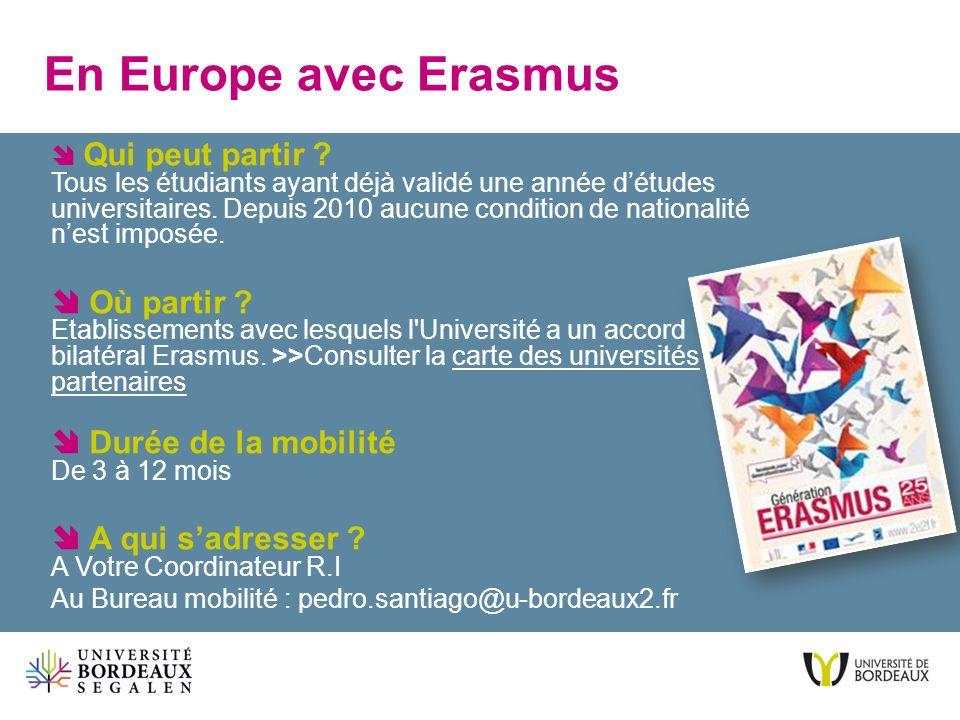 En Europe avec Erasmus