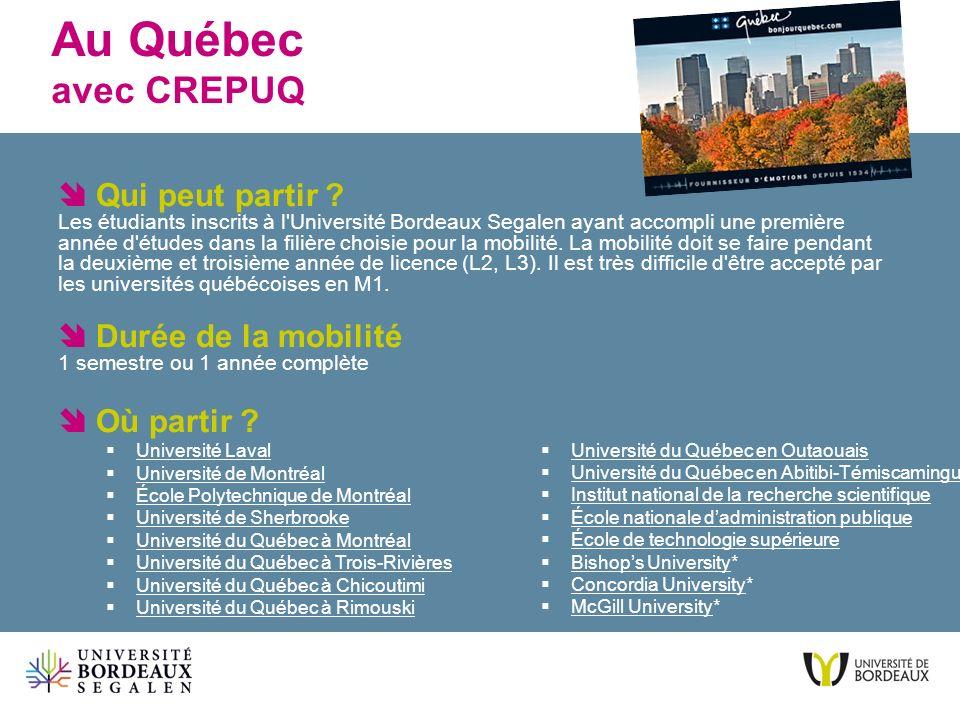 Au Québec avec CREPUQ