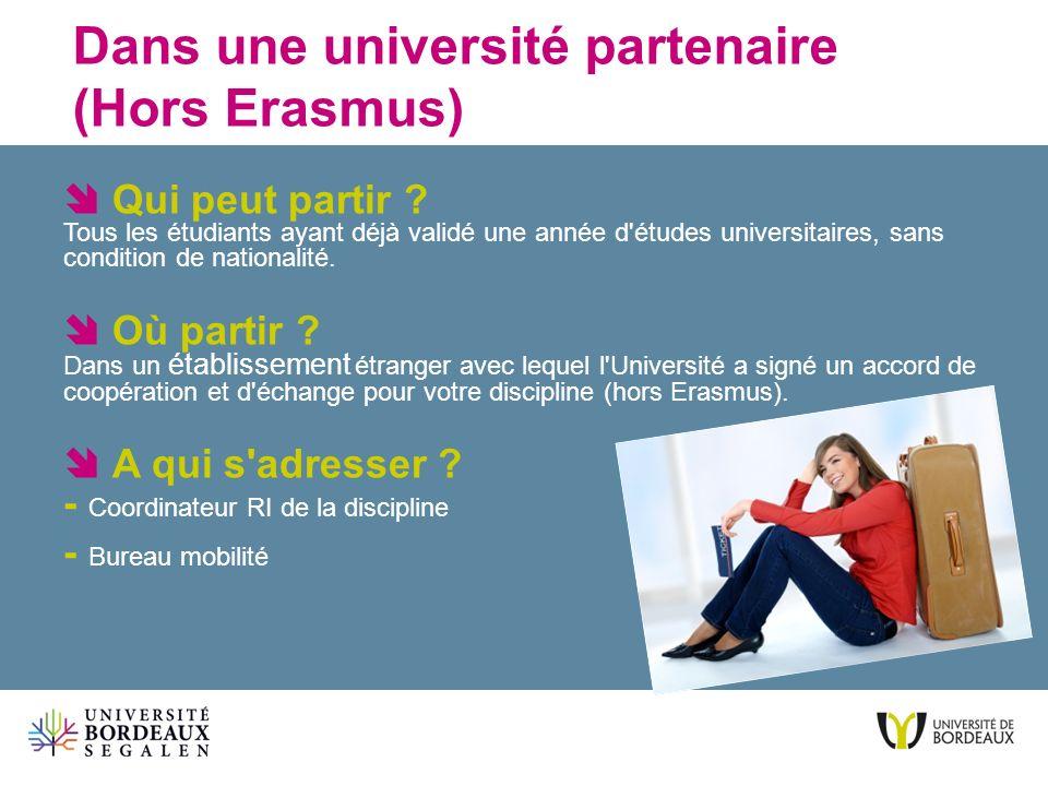 Dans une université partenaire (Hors Erasmus)