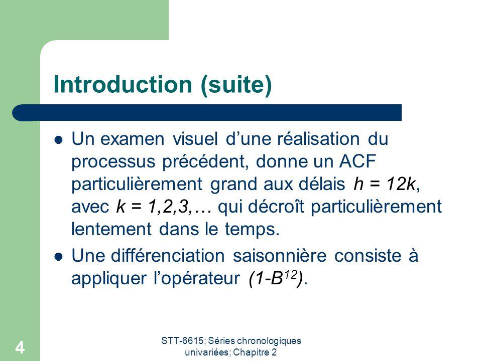 STT-6615; Séries chronologiques univariées; Chapitre 2