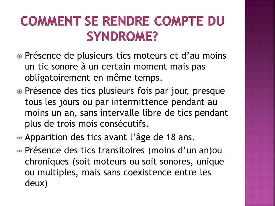 Comment se rendre compte du syndrome