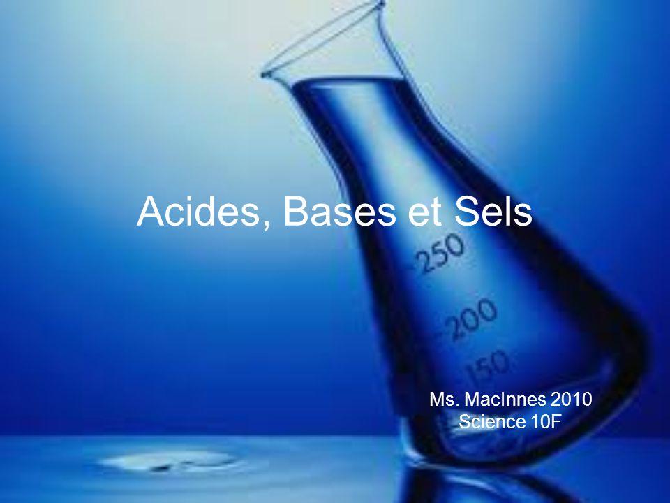 Acides, Bases et Sels Ms. MacInnes 2010 Science 10F