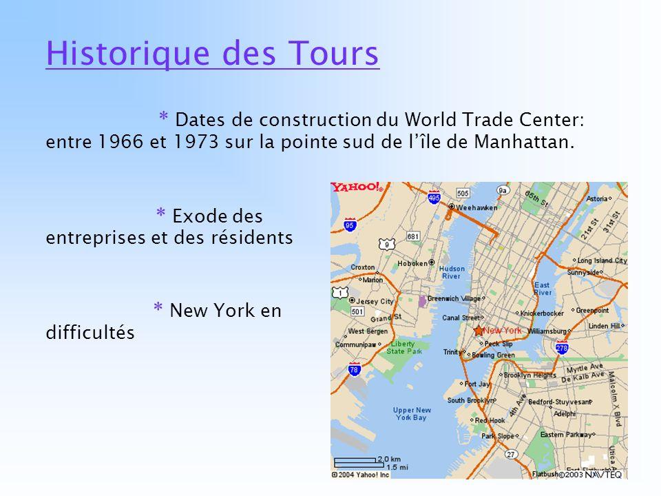 Historique des Tours * Exode des entreprises et des résidents