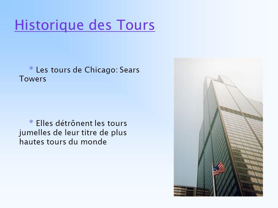 Historique des Tours * Les tours de Chicago: Sears Towers