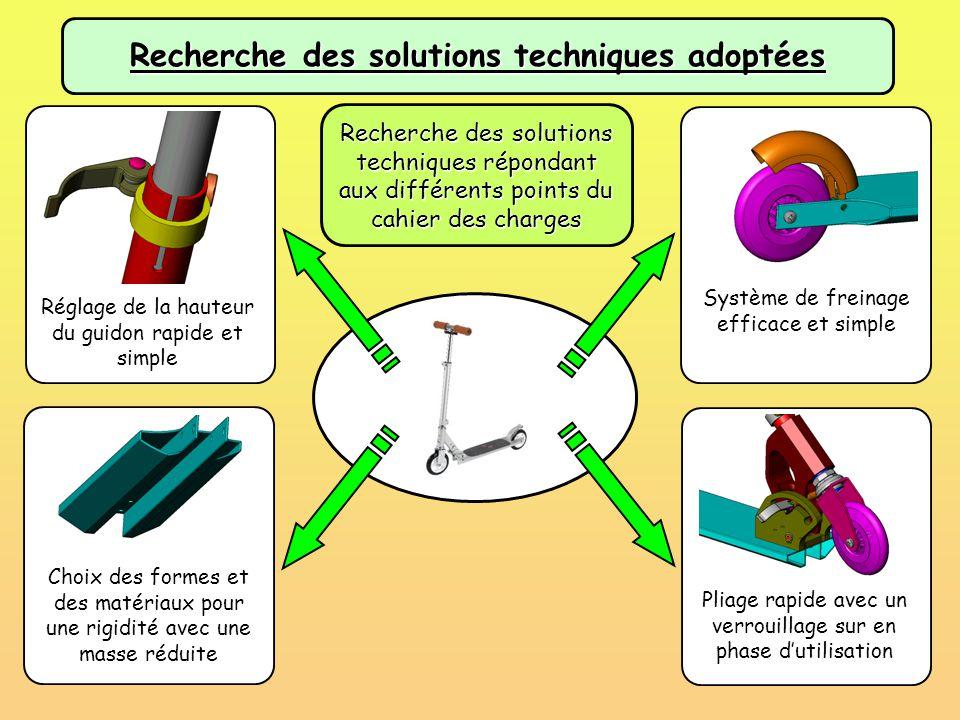 Recherche des solutions techniques adoptées