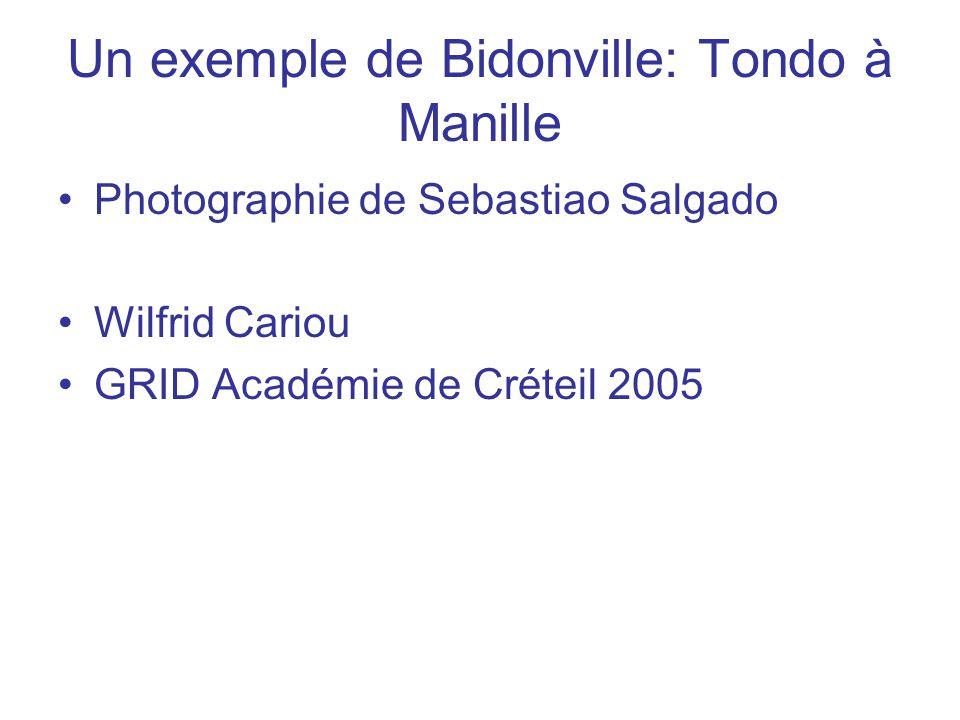 Un exemple de Bidonville: Tondo à Manille