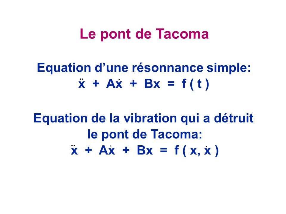 Equation d'une résonnance simple: