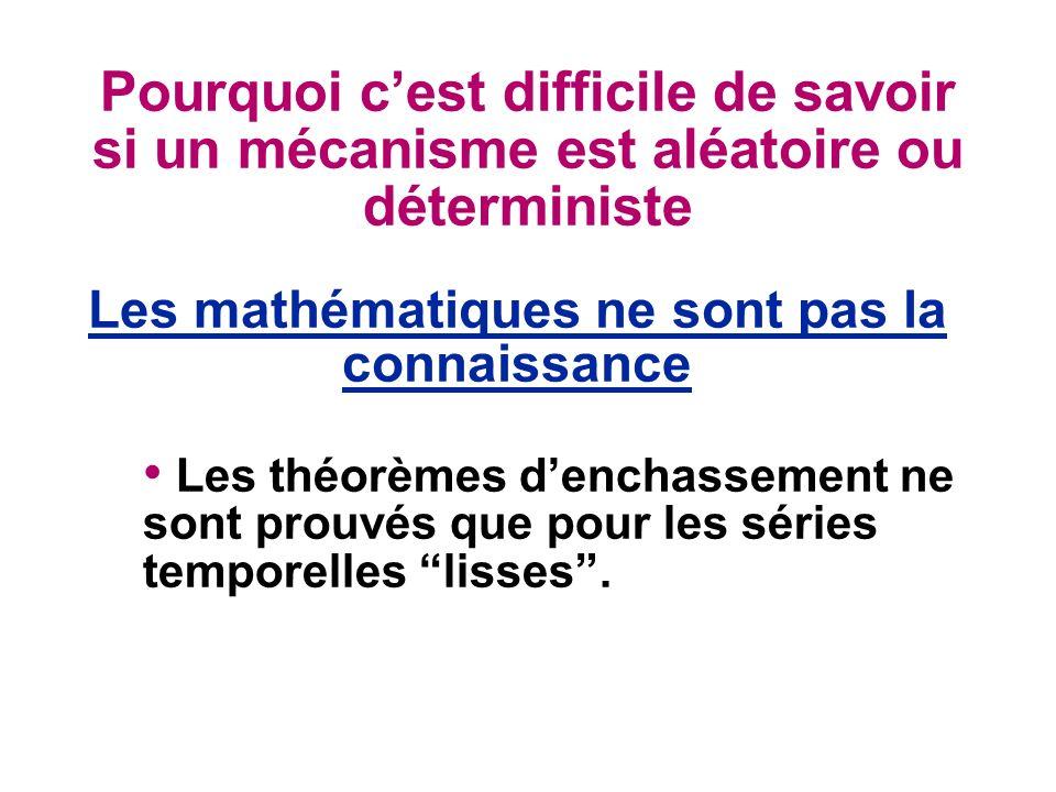 Les mathématiques ne sont pas la connaissance
