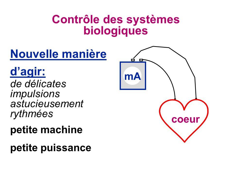 Contrôle des systèmes biologiques
