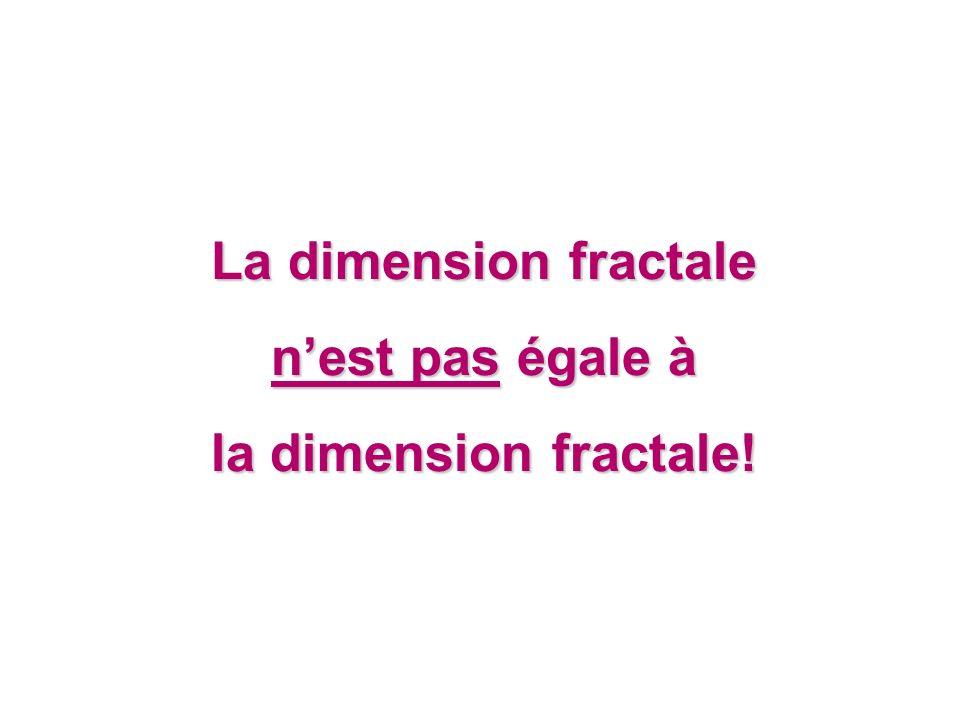 La dimension fractale n'est pas égale à la dimension fractale!