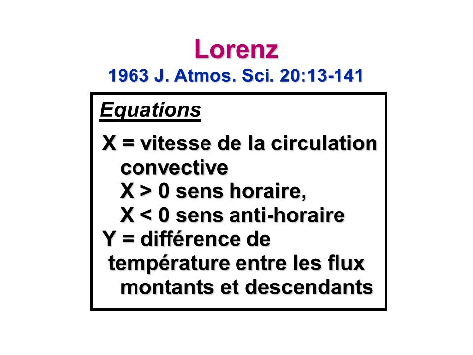 Lorenz 1963 J. Atmos. Sci. 20:13-141 Equations