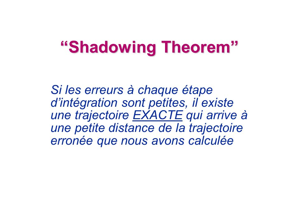 Shadowing Theorem