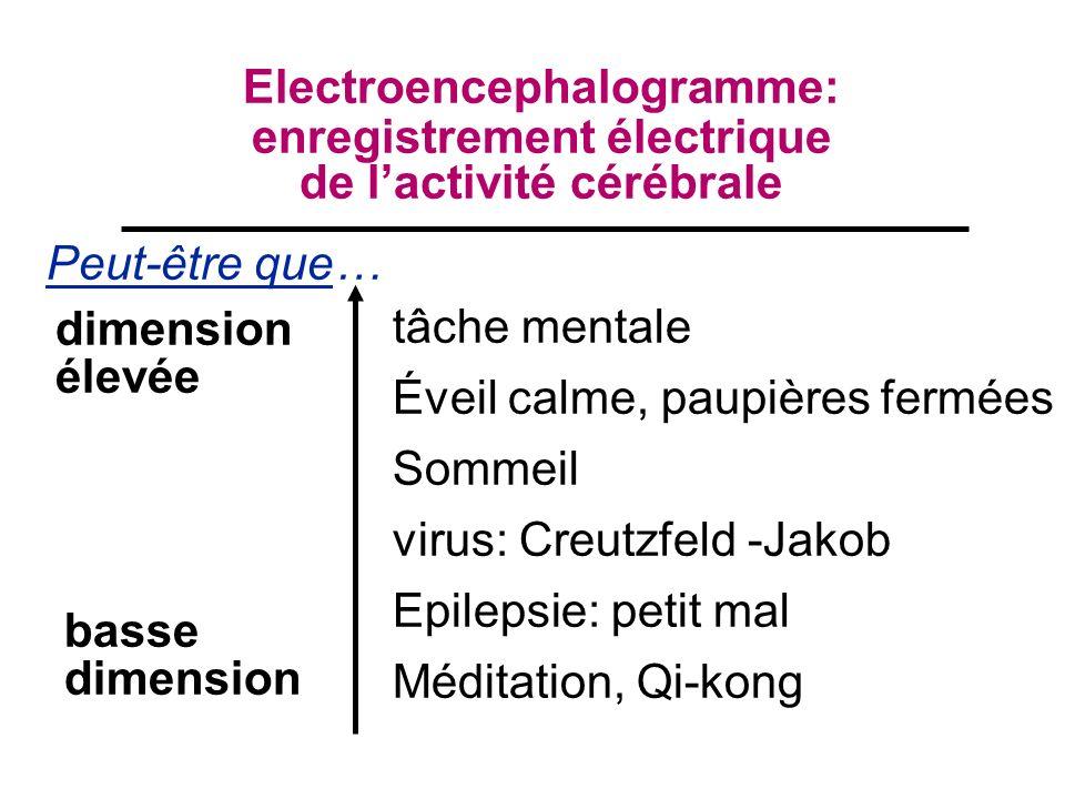 Electroencephalogramme: enregistrement électrique