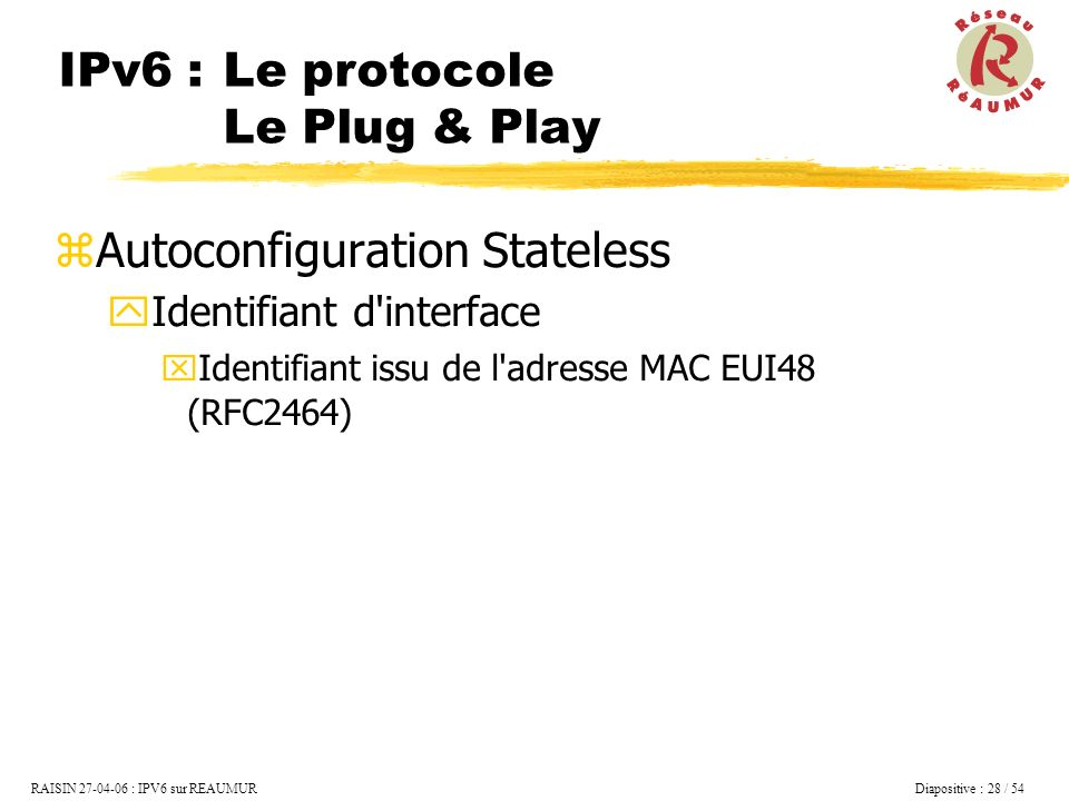 IPv6 : Le protocole Le Plug & Play