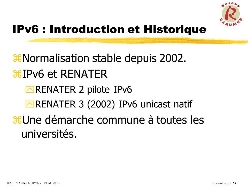 IPv6 : Introduction et Historique