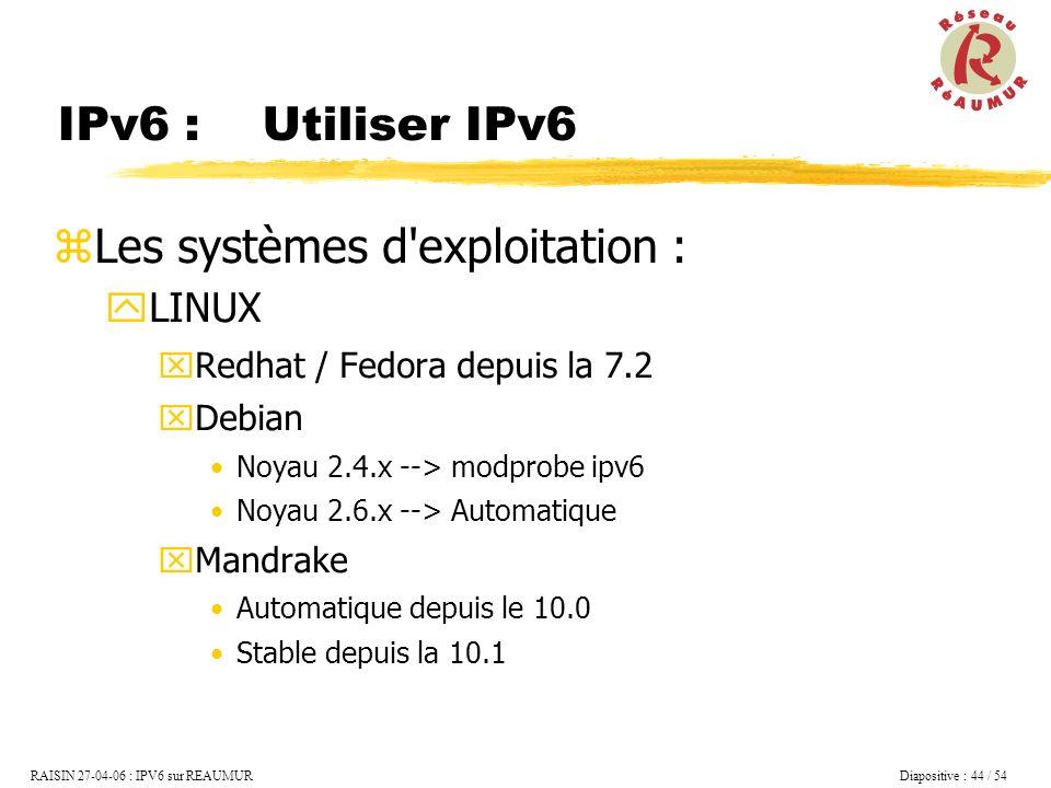 Les systèmes d exploitation :
