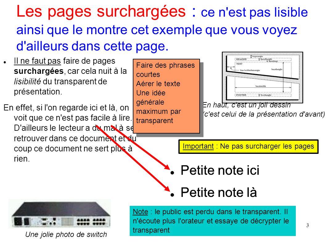 Les pages surchargées : ce n est pas lisible ainsi que le montre cet exemple que vous voyez d ailleurs dans cette page.