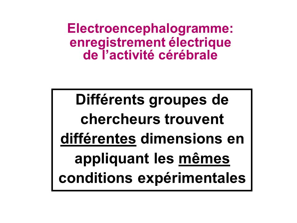 Electroencephalogramme: