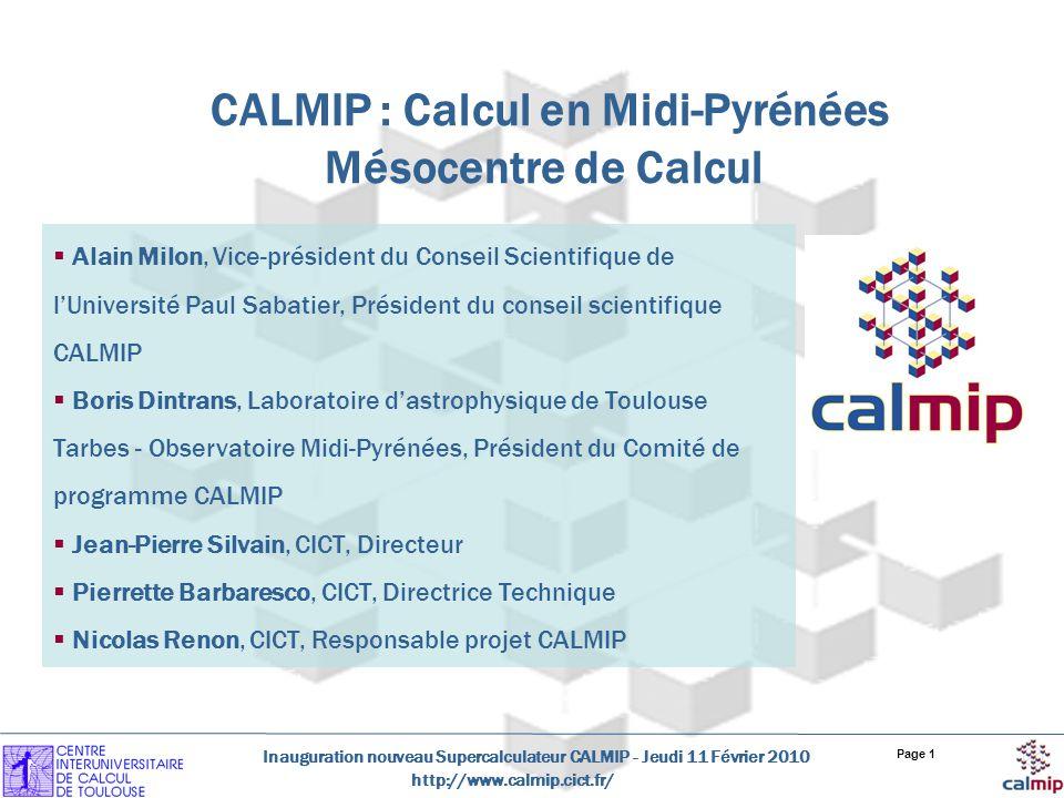 CALMIP : Calcul en Midi-Pyrénées