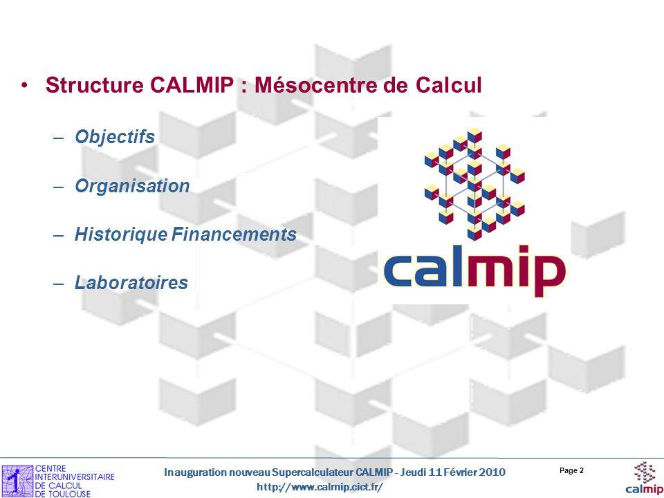 Structure CALMIP : Mésocentre de Calcul