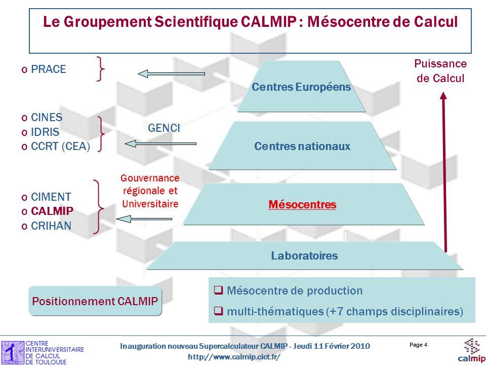 Le Groupement Scientifique CALMIP : Mésocentre de Calcul