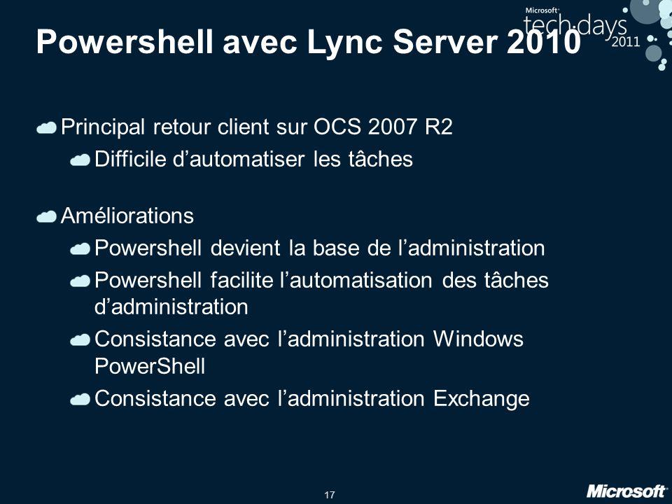 Powershell avec Lync Server 2010