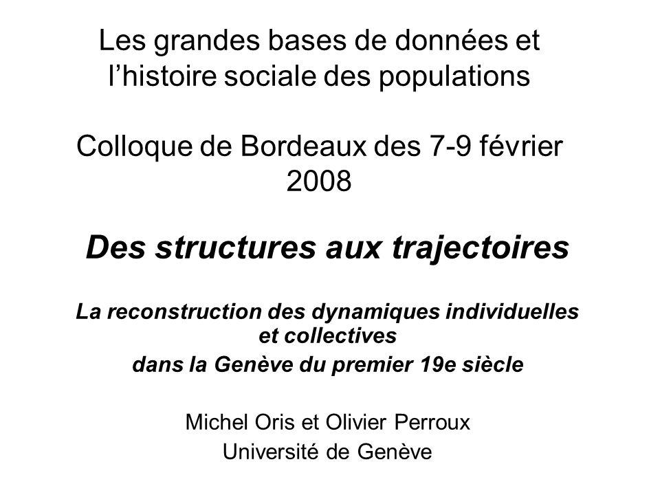 Des structures aux trajectoires