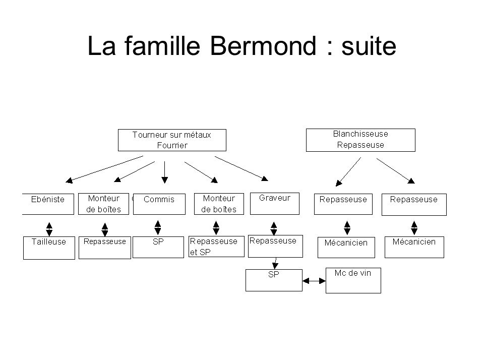 La famille Bermond : suite